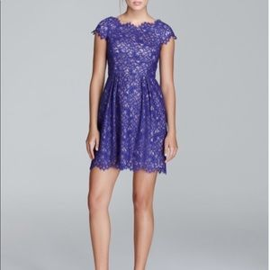 Shoshanna indigo lace dress
